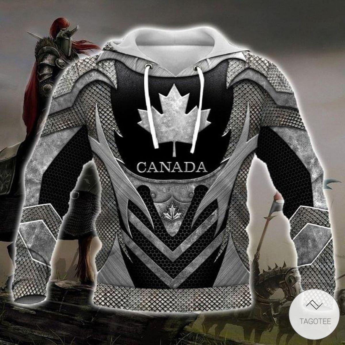 Canada as Metal Viking 3D Hoodie