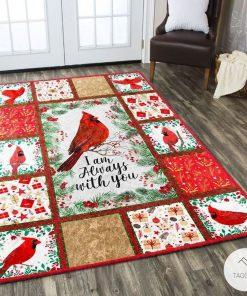 Cardinal Bird I am always with you rug