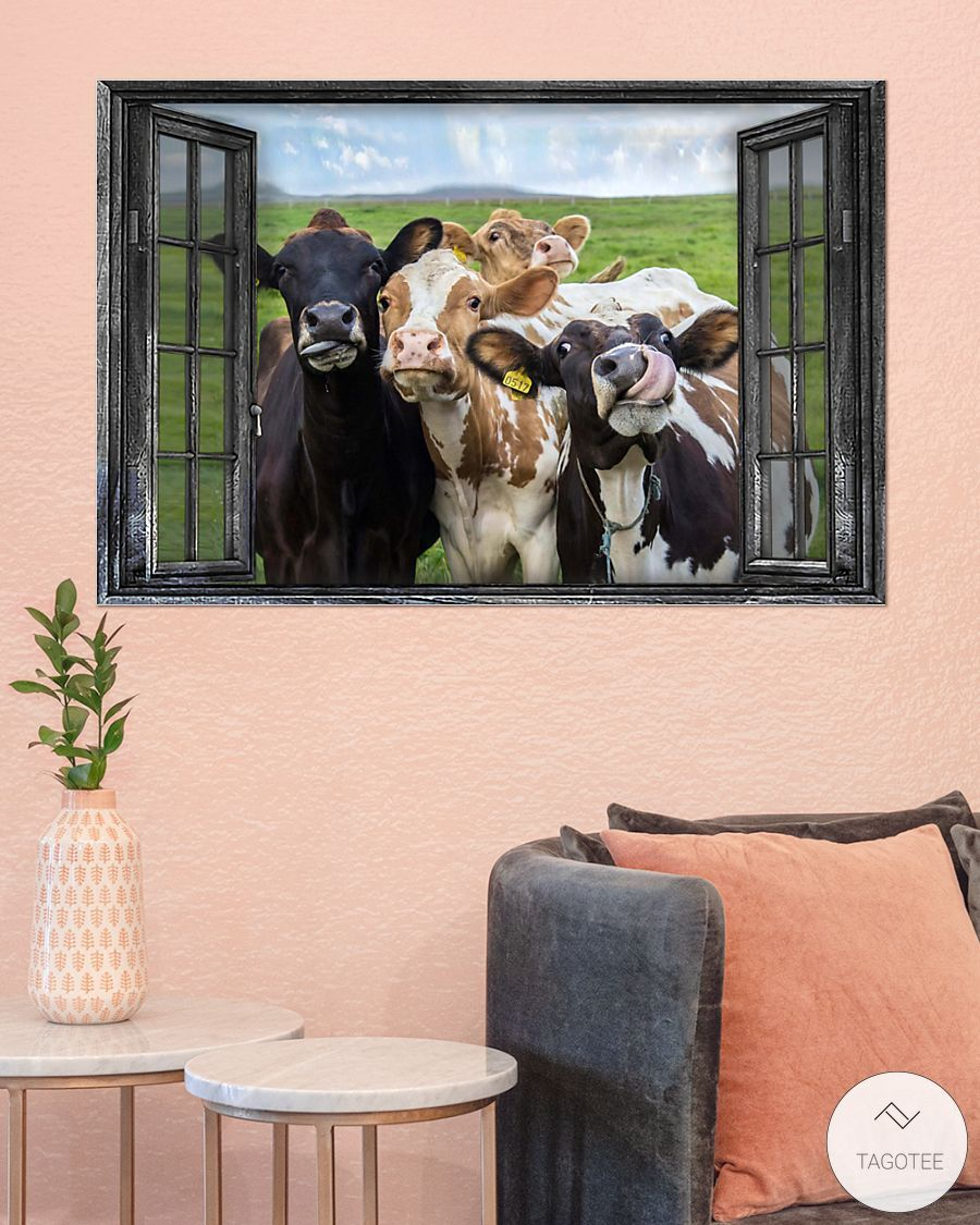 Cattle Cows Through The Window Posterz