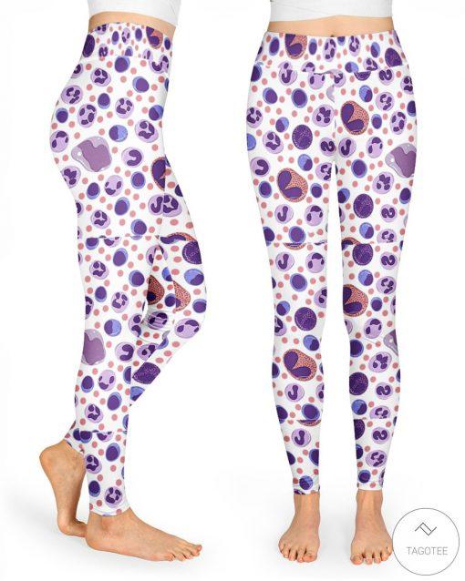 Cells pattern 3D leggings