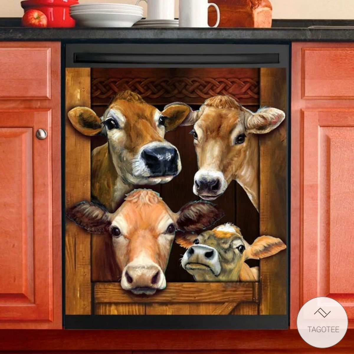 Cow 3D Dishwasher Cover