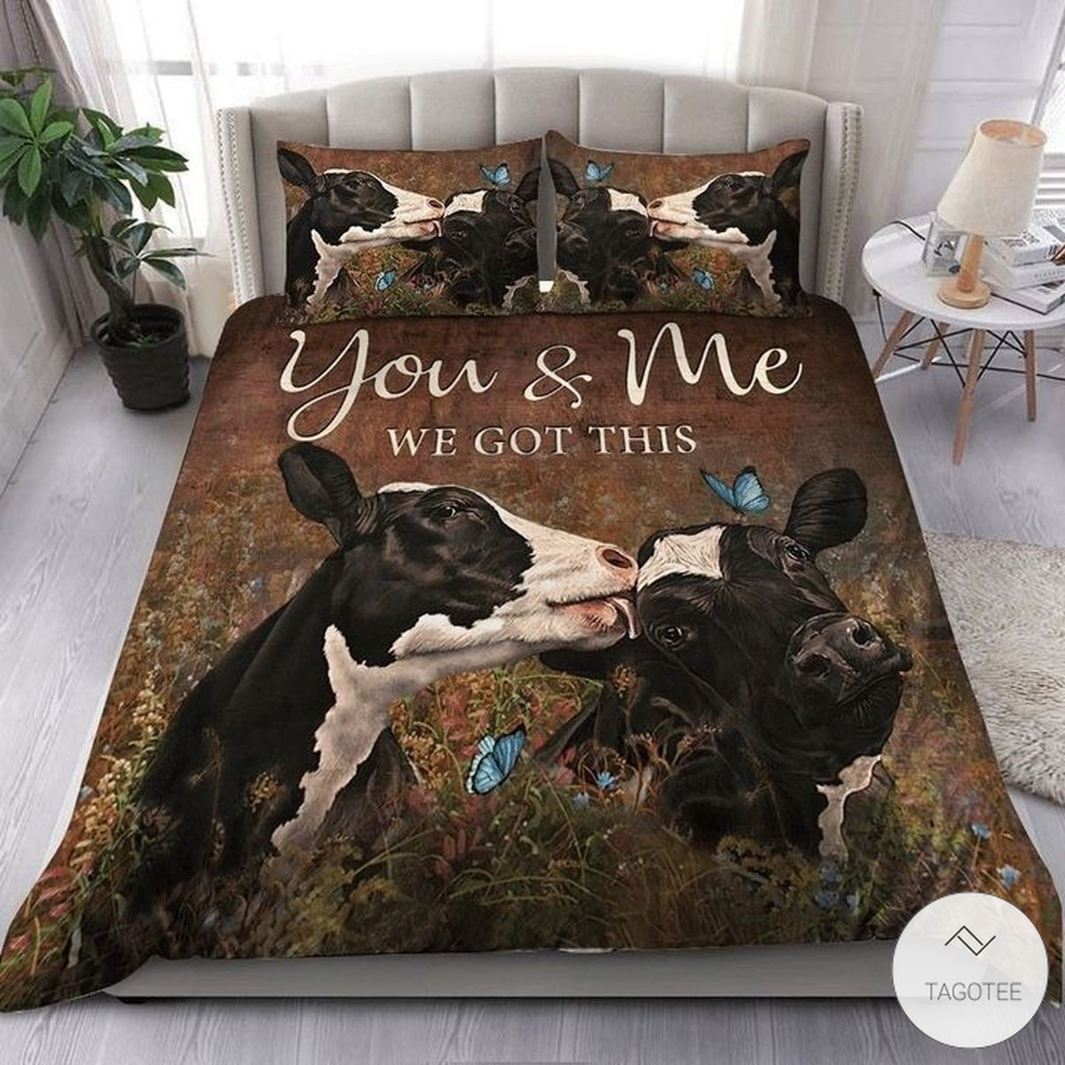 Cow Couple You And Me We Got This Quilt Bedding Set