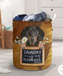 Dachshund Laundry Today Or Naked Tomorrow Laundry Basket