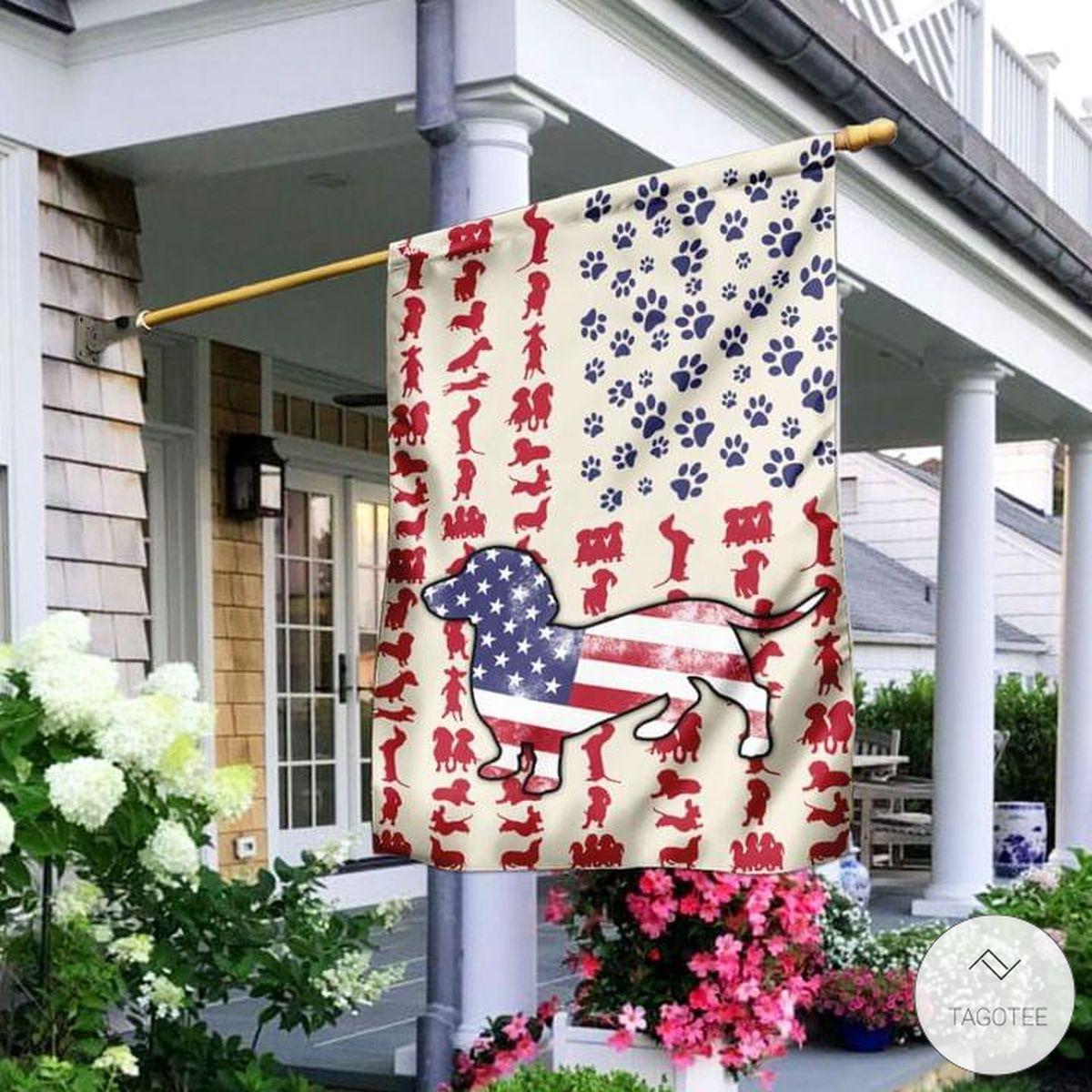 Dachshund US Flag