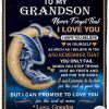 Dragon To my grandson Never forget that I love you fleece blanket