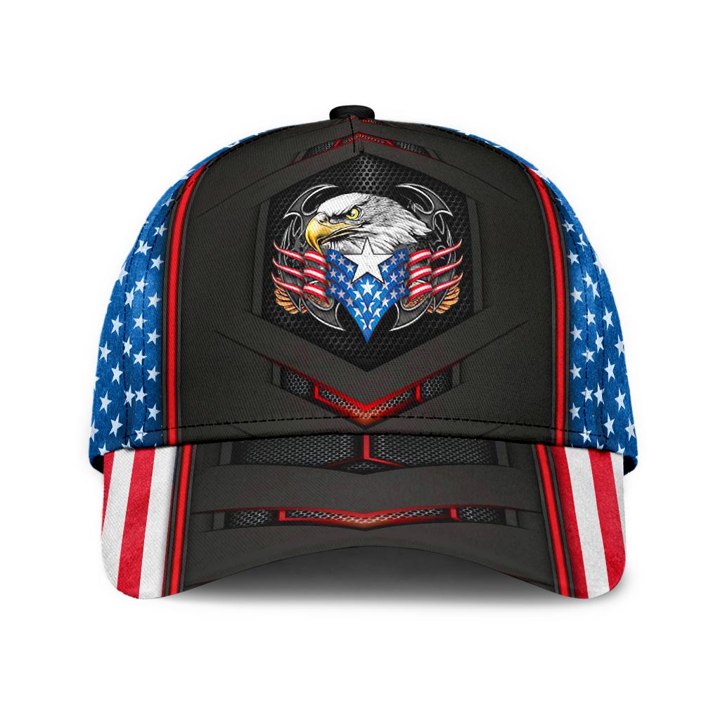 Eagle American Flag 3D Cap
