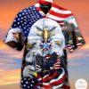 Eagles Patriotism American Sky Short Sleeve Shirt, Hawaiian Shirt
