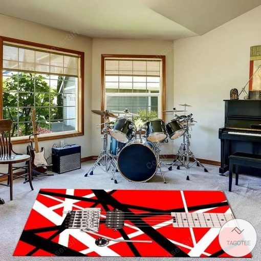 Eddie Van Halen Guitar Pattern Rugx