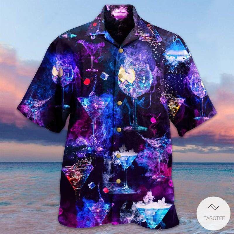 Glowing Cocktail Unisex Hawaiian Shirt