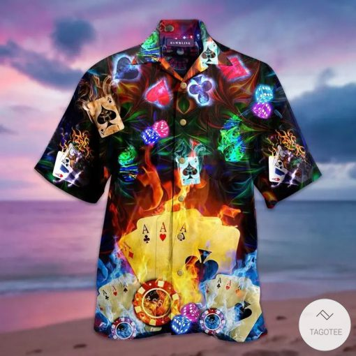 Glowing Poker Hawaiian Shirt