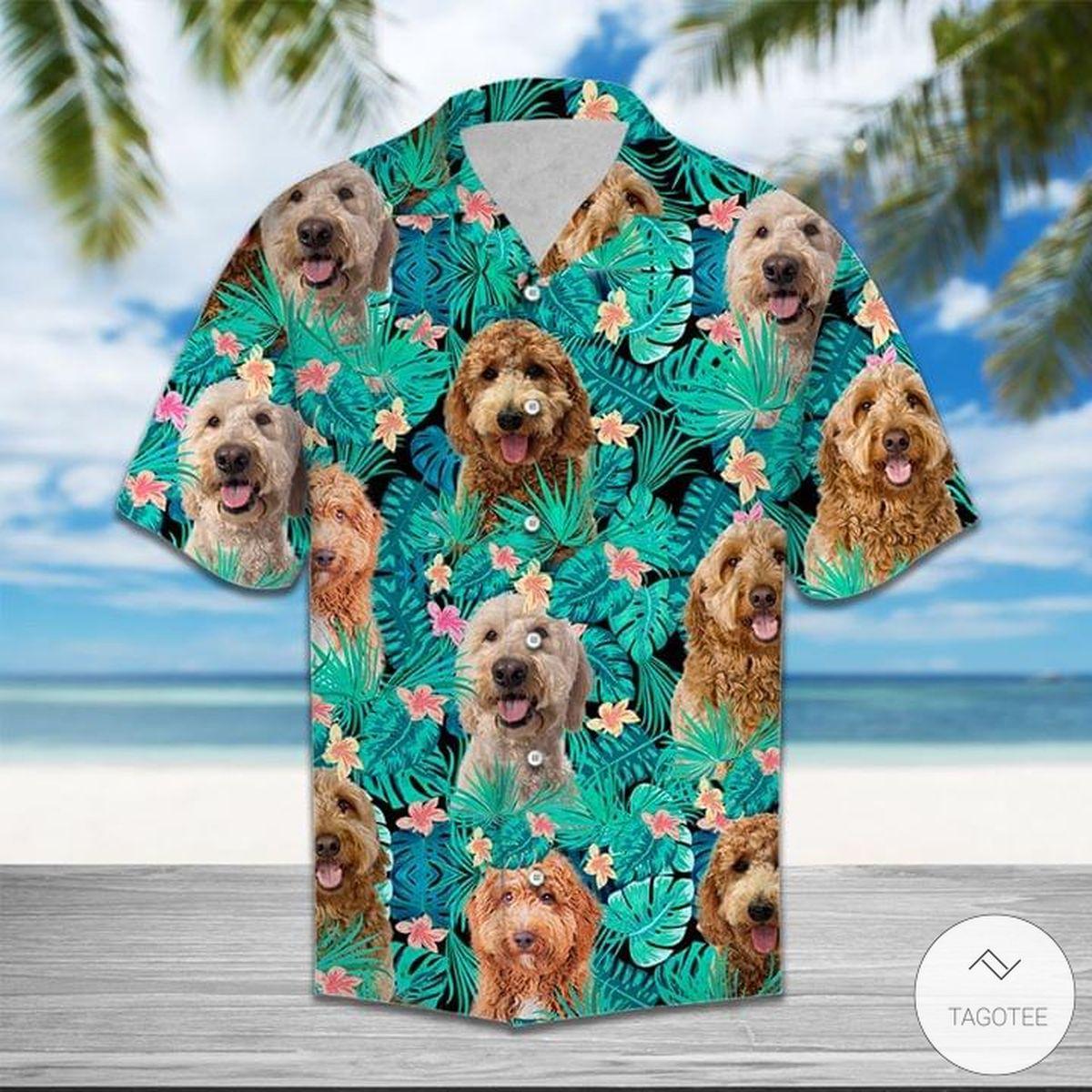 Goldendoodle Pattern Hawaiian Shirt