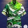 Green Piano Hawaiian Shirt
