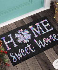 Home Sweet Home – EMT Holographic Doormatc