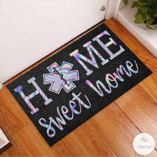 Home Sweet Home – EMT Holographic Doormatx