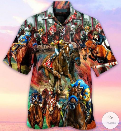 Horse Racing Hawaiian Shirt