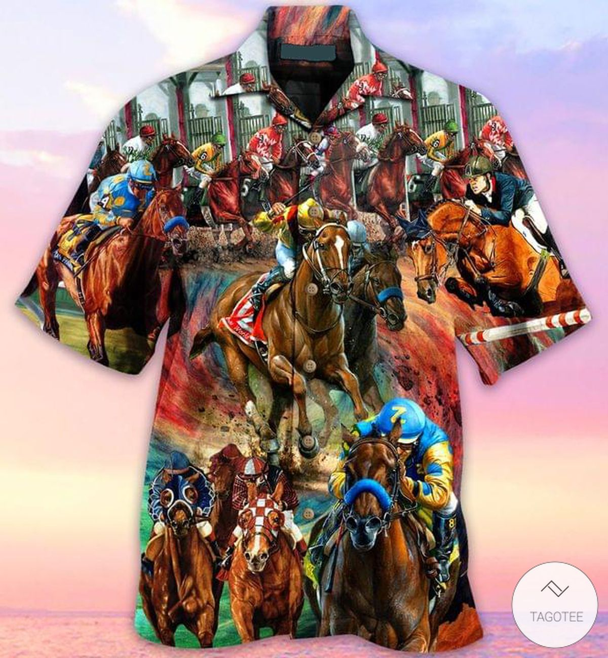 Ships From USA Horse Racing Hawaiian Shirt