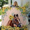 Horse Sunflower Quilt