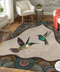 Hummingbirds Mandala Rug