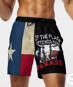 If the flag offends you kiss my Texas 3D Hawaiian Beach Shortz