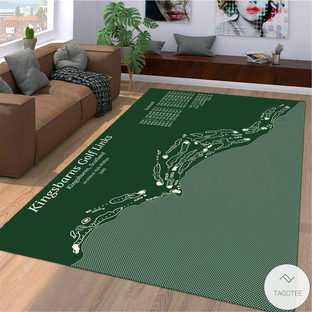 Kingsbarns Golf Links Map Layout Rug