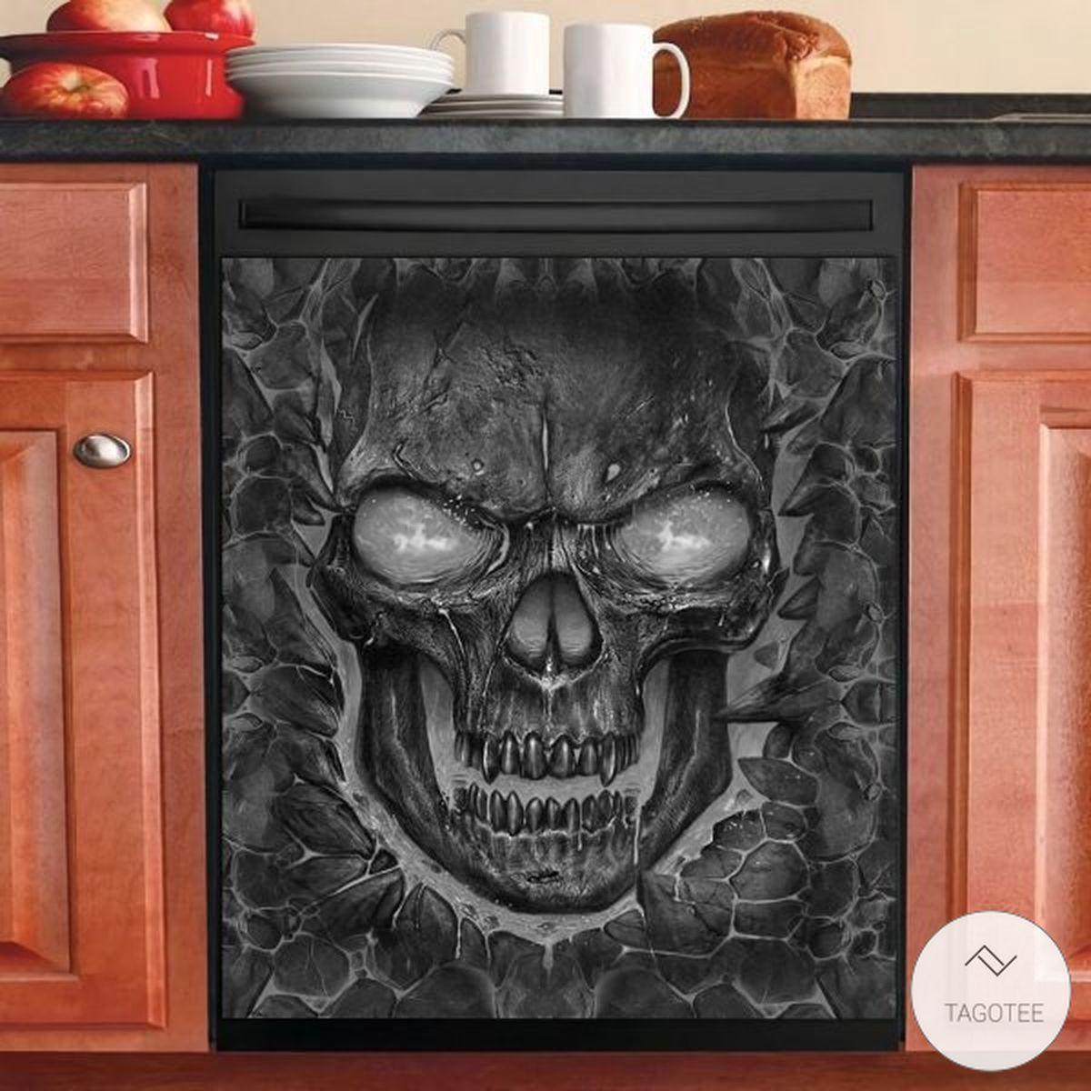 Lava Skull Dishwasher Cover