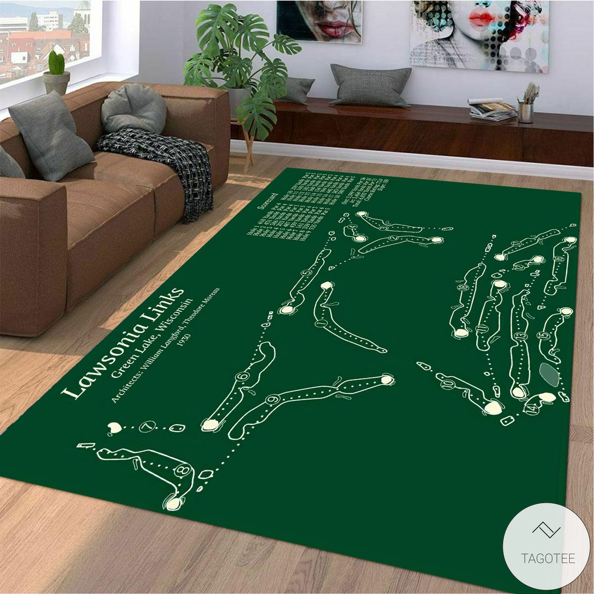 Lawsonia Links Golf Course Map Layout Rug