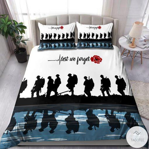 Lest we forget Veteran Bedding Set