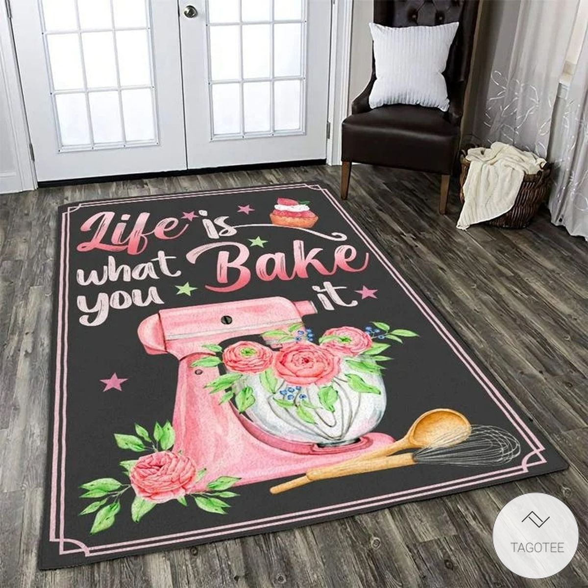 Life is what you bake it rug
