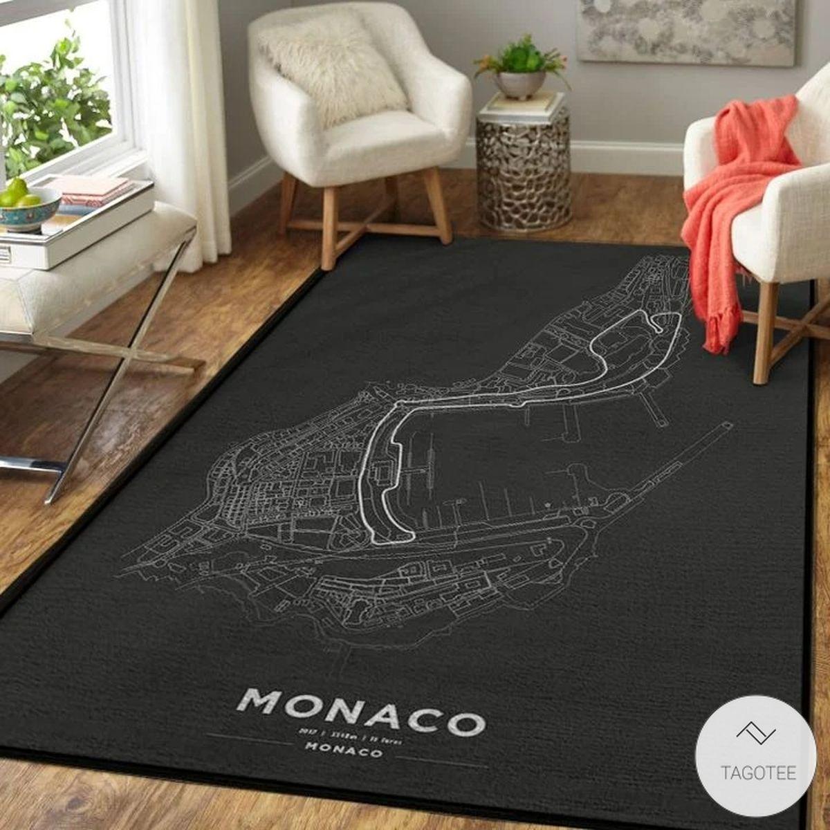 Monaco F1 Circuit Map Rug