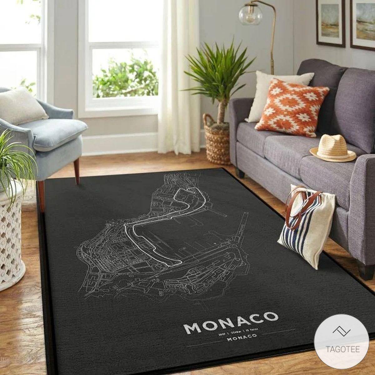 Monaco F1 Circuit Map Rugx