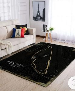 Montreal Canada F1 Circuit Map Rug