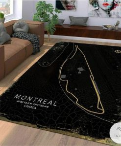 Montreal Canada F1 Circuit Map Rugz
