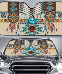 Native Americans Car Sun Shade