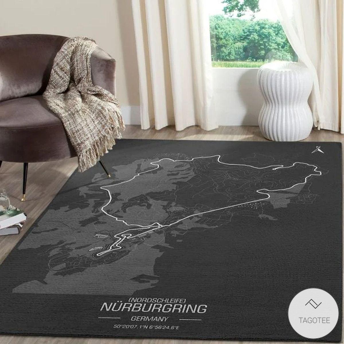 Nürburgring Germany F1 Circuit Map Rugz