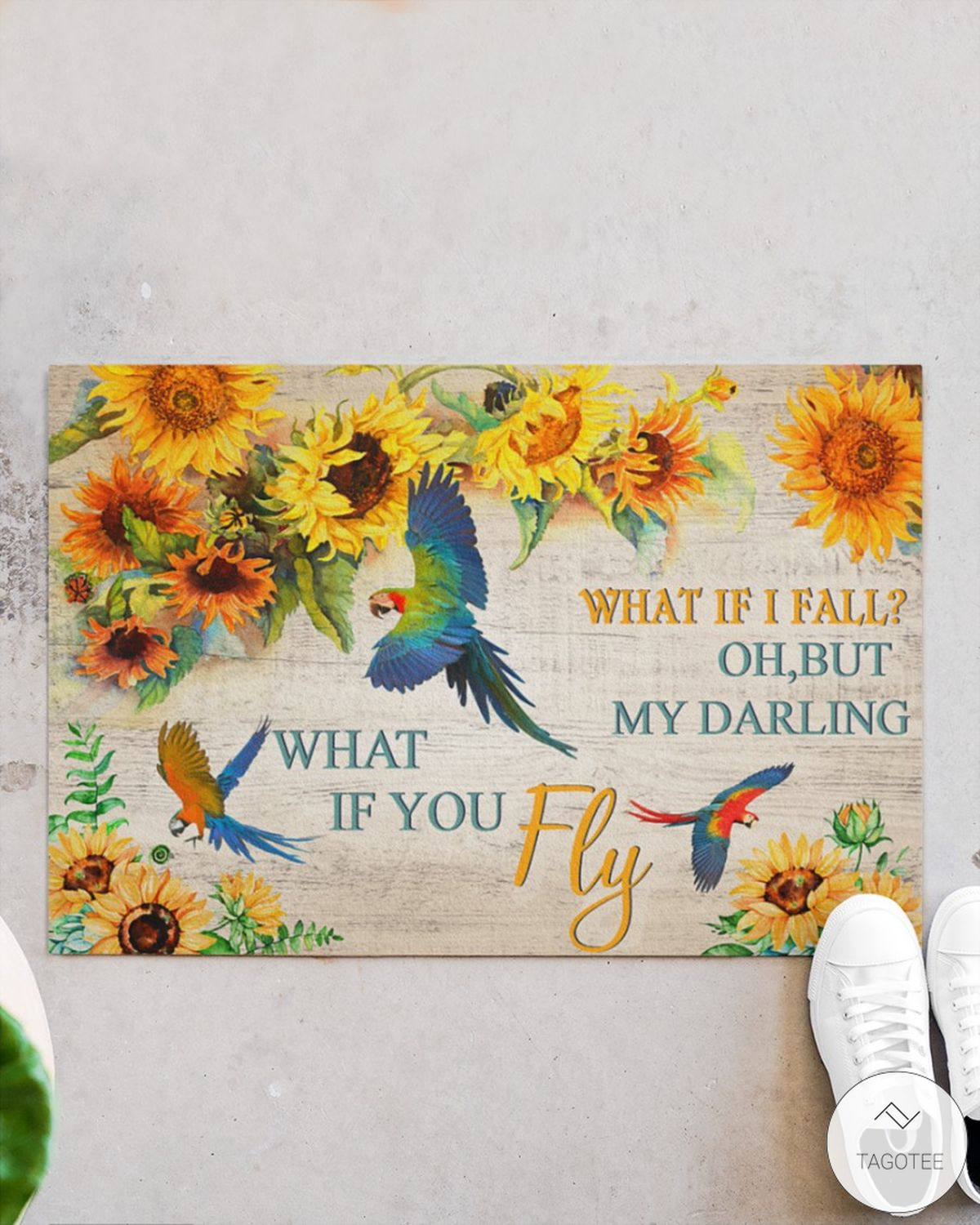 Parrot what if I fall oh but my darling what if you fly doormatc