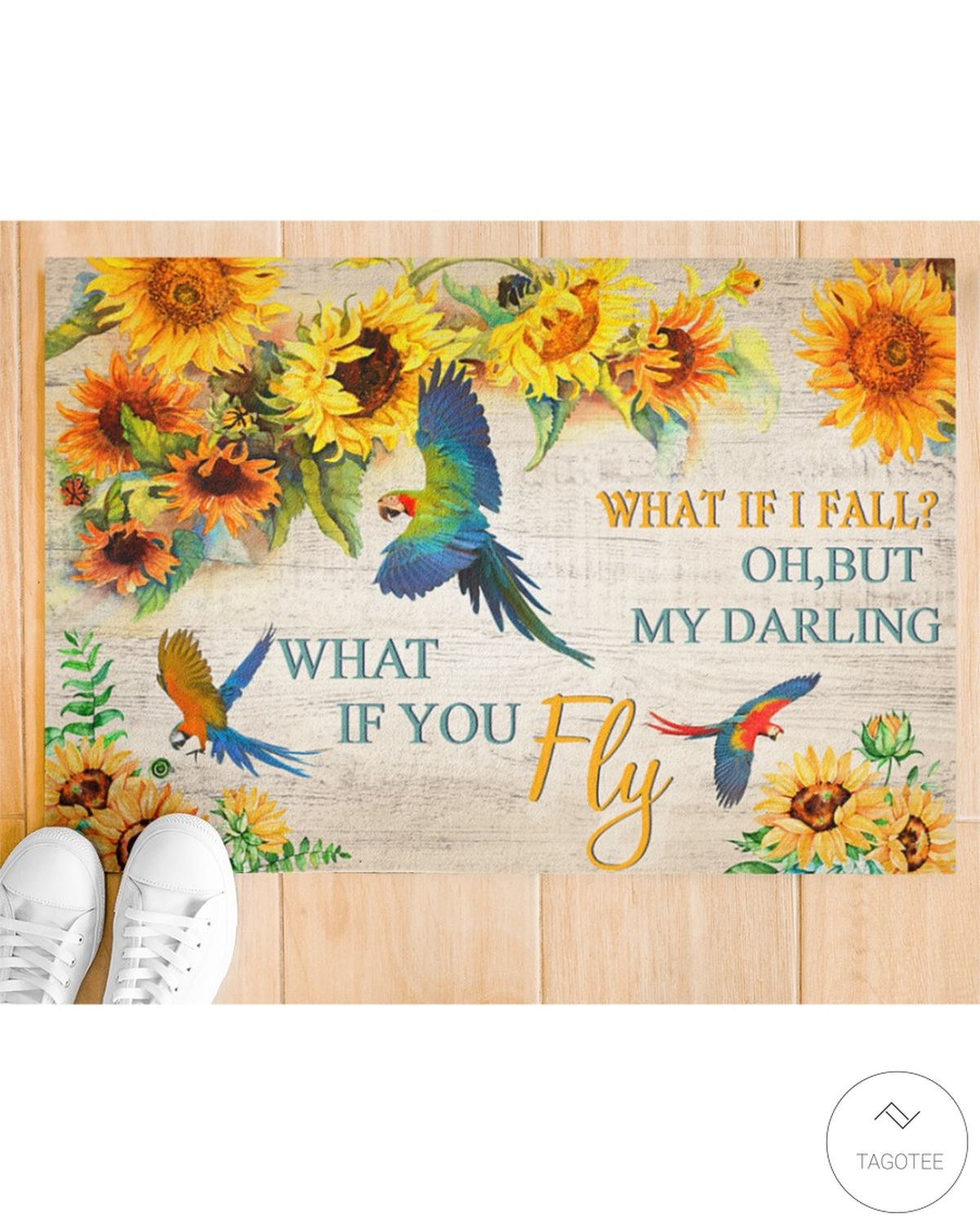 Parrot what if I fall oh but my darling what if you fly doormatx