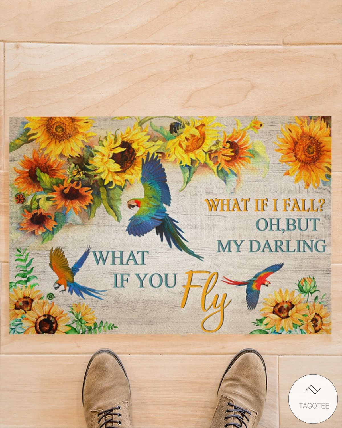 Parrot what if I fall oh but my darling what if you fly doormatz