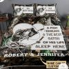 Personalized A Fisherman And The Best Catch Of His Life Sleep Here Camo Quilt Bedding Set