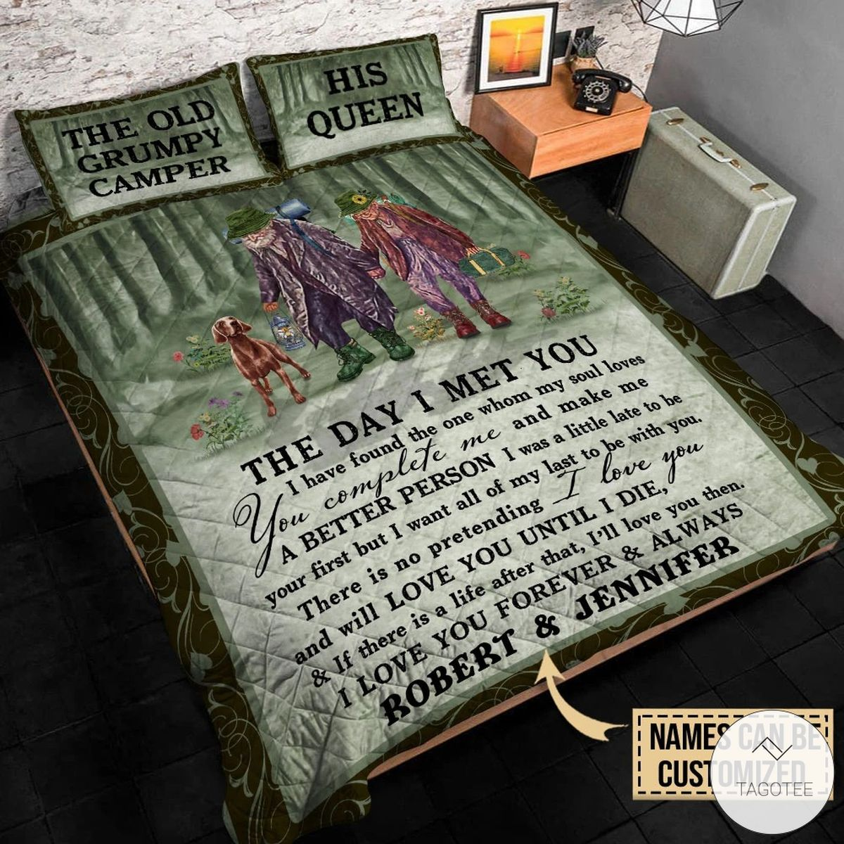 Personalized Camping Couple The Day I Met You I Have Found The One Whom My Soul Love Quilt Bedding Set