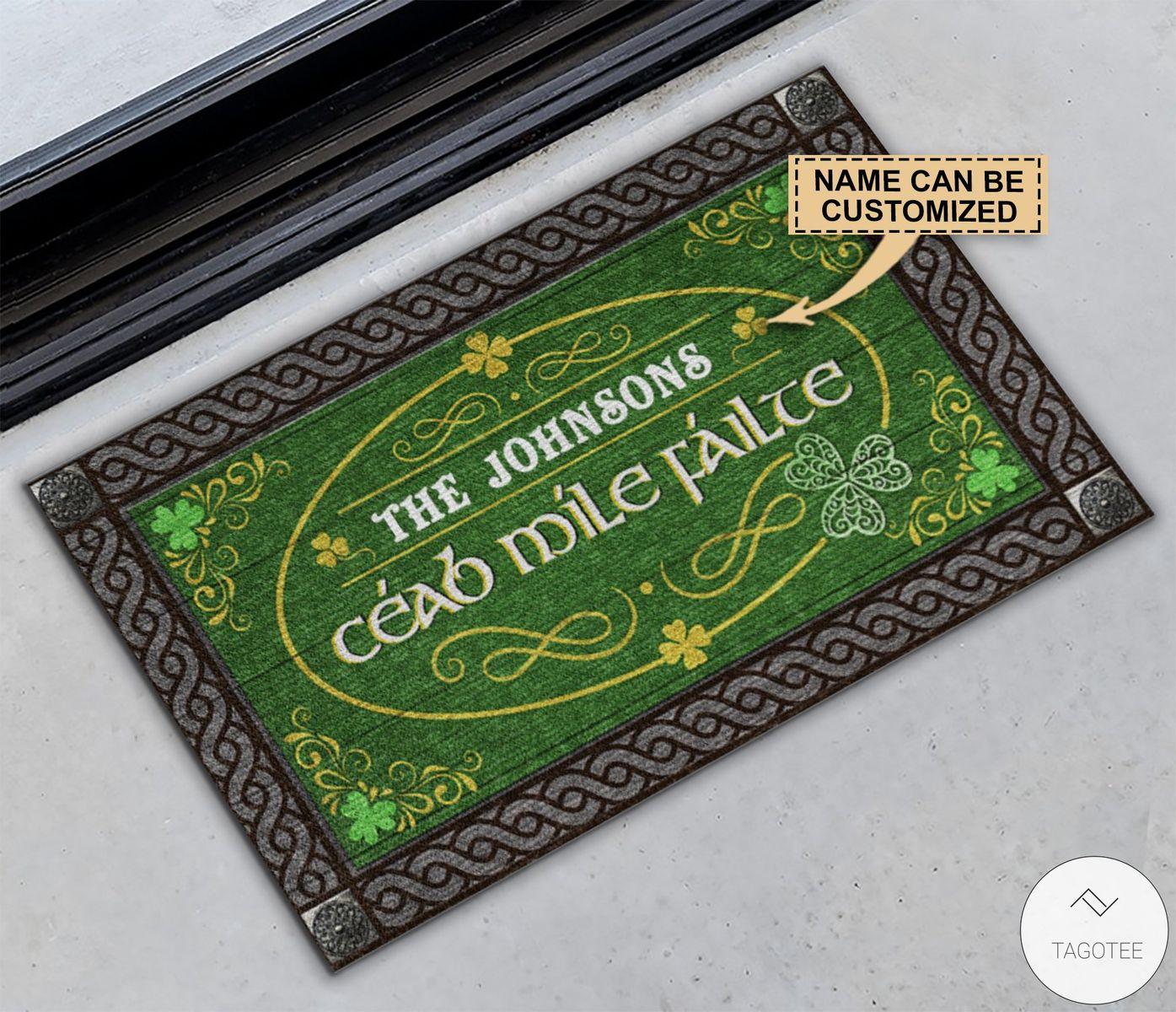 Personalized Irish Céad míle fáilte Doormatz