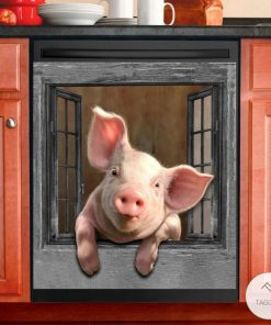 Pig View Window 3D Dishwasher Cover