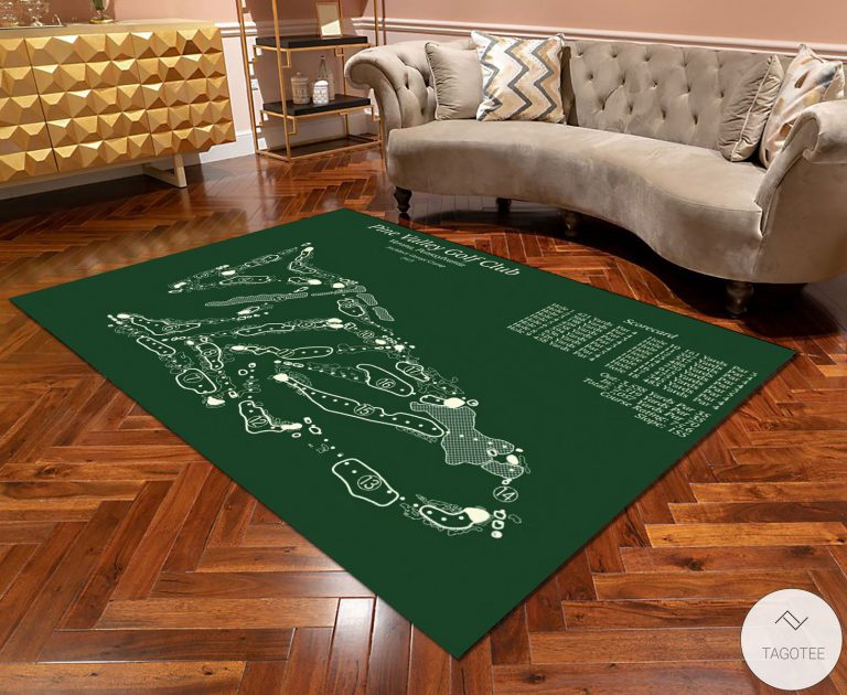 Pine Valley Golf Club Course Map Layout Rug - Tagotee