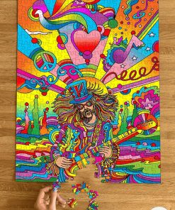 Psychedelic Hippie Jigsaw Puzzle