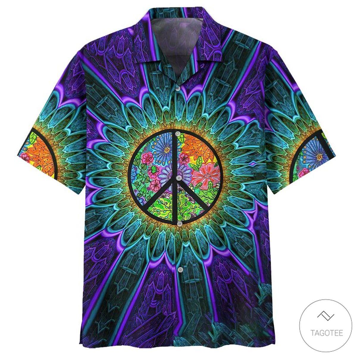 Purple Hippie Hawaiian Shirt