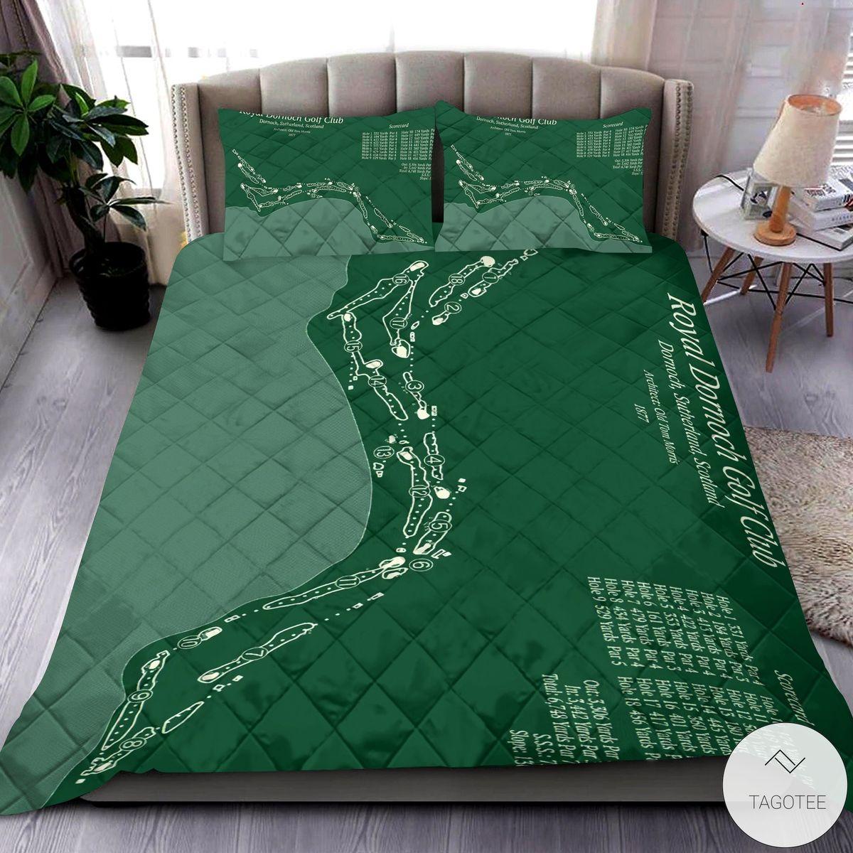 Royal Dornoch Golf Club 3D Quilt Bedding Set