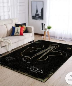 Sepang F1 Circuit Map Rug