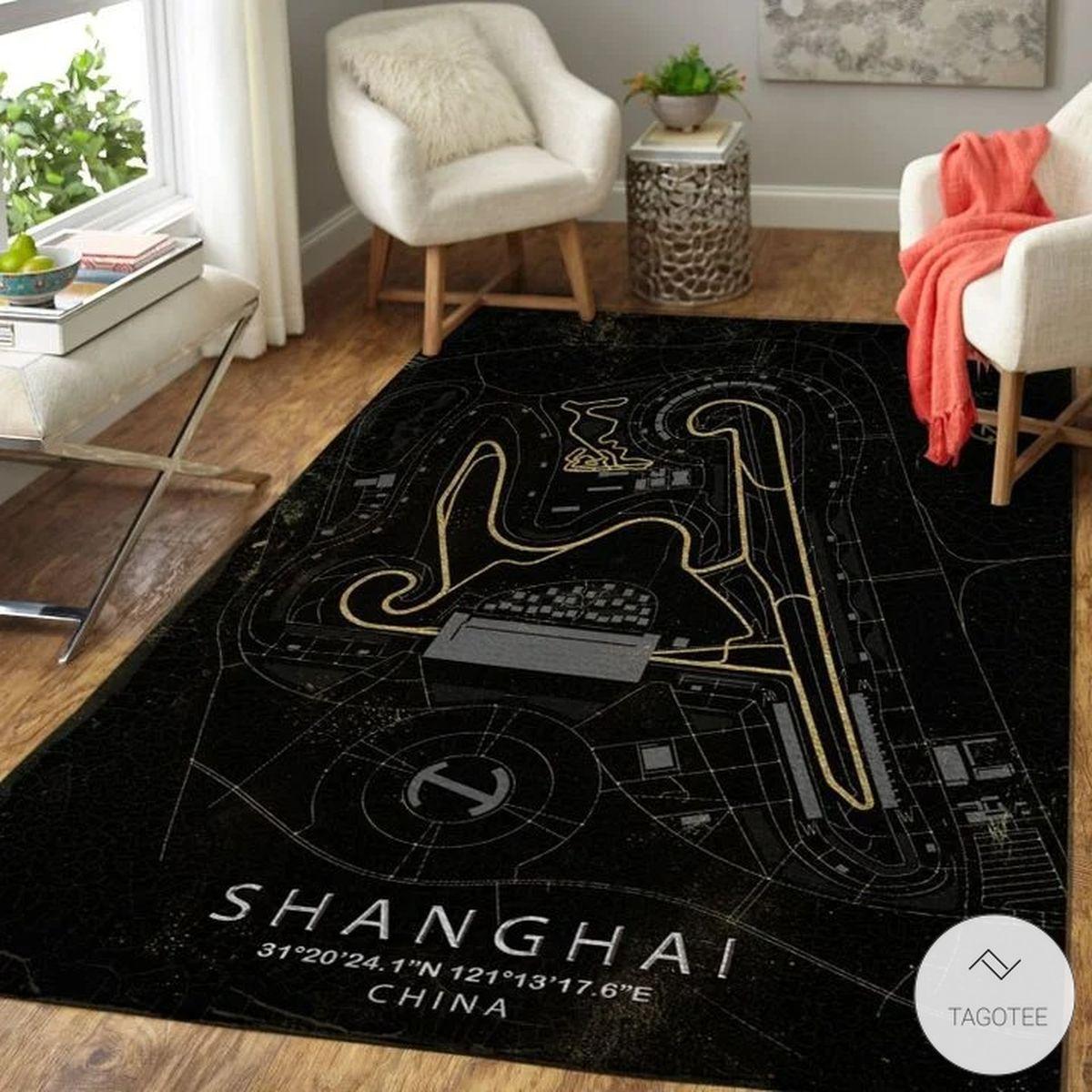 Shanghai China F1 Circuit Map Rugz