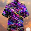 Skull Guns Neon Glow Hawaiian Shirt
