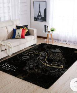 Sochi Russia F1 Circuit Map Rug