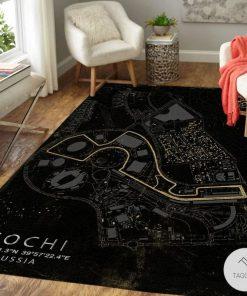 Sochi Russia F1 Circuit Map Rugz